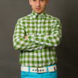 Guy in a checkered shir — Stock Photo #43750301