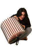 Brunette with accordion  — Stock Photo