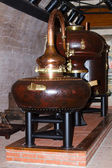 Factory on distillation of cognac — Stock Photo