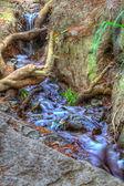 Cascading waterfall in Crimea — Stock Photo