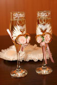 Two glasses of a champagne — Stock Photo