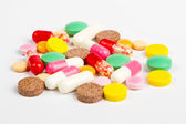 Close up colorful pills — Foto de Stock