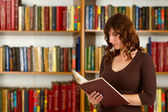 Student with open book — Zdjęcie stockowe