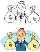 Mr. Moneybags — Stock Vector