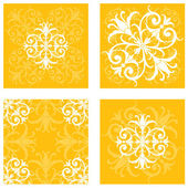 Floral Tile Patterns — Stock Vector