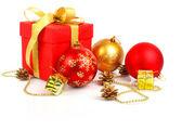 赤いクリスマス ギフト — ストック写真