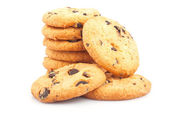 Stack of chocolate chips cookies — Stock Photo