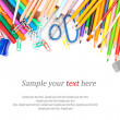 Stationery & text — Stock Photo