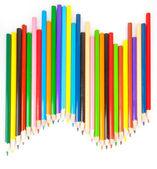 Lápis de cor acentuadas — Foto Stock