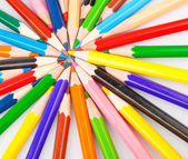 Bunch of colored pencils — Stock Photo