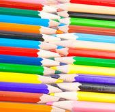 Pencils zipper — Stock Photo
