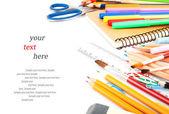Stationery & text — Stock Photo
