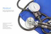 Manometer & stethoscope — Stock Photo