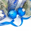 Christmas still life in blue — Stock Photo #32381993