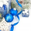 Christmas still life in blue — Stock Photo #33031509