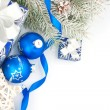 Christmas still life in blue — Stock Photo #33033127