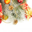 Christmas still life in red — Stock Photo #33033133