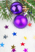 Christmas blue ball on fir tree — Stock Photo