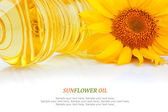 Oil and sunflower — Stock Photo