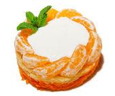 Salad with tangerine — Stock Photo