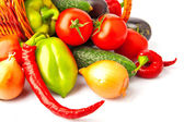 Autumn vegetables in basket — Stock Photo