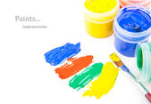 Paint strokes with brushes — Stock Photo