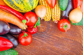 Autumn vegetables on wooden — Stock Photo