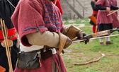 Medieval bowman — Stock Photo