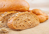 Assortment of baked breads — Stock Photo