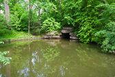 Landscaping with ponds, arboretum Sofievka — Stock Photo