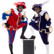 Zwarte Piet and his co-worker — Stock Photo