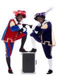 Zwarte piet y su compañero de trabajo — Foto de Stock