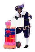 Zwarte Piet with presents — Stock Photo