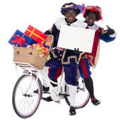 Zwarte Piet with presents — Stock Photo