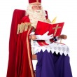 Sinterklaas on his chair — Stock Photo #33042747