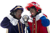 Zwarte Piet is singing — Stock Photo
