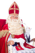 Sinterklaas on his chair — Stock Photo