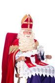Sinterklaas on his chair — Stock Photo