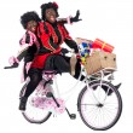 Zwarte Pieten are bringing presents — Stock Photo
