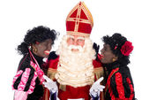 Sinterklaas with Zwarte Piet — Stockfoto