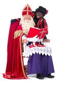 Sinterklaas and Zwarte Piet — Stock Photo