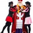 Sinterklaas having a cold — Stock Photo