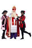 Sinterklaas is making a phonecall — Zdjęcie stockowe
