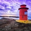 Small red lighthouse — Stock Photo