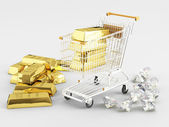 Gold and Diamonds — Stock Photo