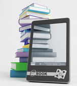 E-book and its content — Stock Photo