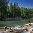 Wideo stockowe: Fly fishing