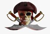Czaszka pirat 2 — Zdjęcie stockowe
