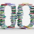 Stock Photo: Stack Of Colorful Books