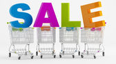 Sale and cart — Stock Photo